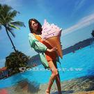 【超取299免運】女神專用-旋轉甜筒冰淇淋大型泳圈 80公分 游泳圈 浮板 漂浮板