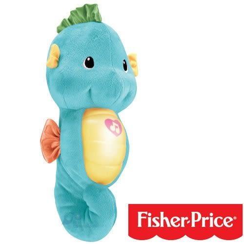美國【費雪 Fisher Price】聲光安撫海馬-粉藍←貝親製 固齒器 綠色小花