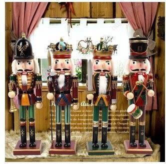 胡桃夾子木偶兵30cm 禮物禮品 裝飾擺件 一套四款