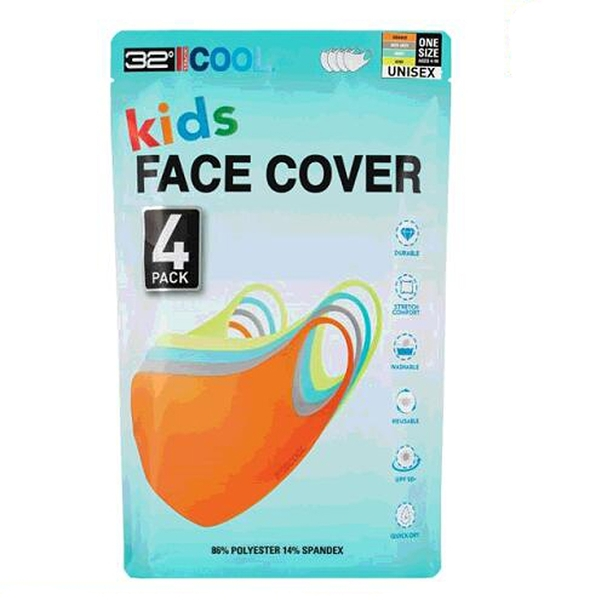 [COSCO代購] W1463829 32 Degrees 兒童涼感口罩 4入