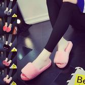 毛毛拖鞋秋冬居家兔毛絨室內外穿臥室家居月子鞋美容院棉拖鞋女冬  快速出貨