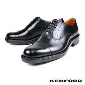 【KENFORD】經典橫飾牛津紳士鞋 黑色(K643-BL)