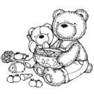 【貝登堡】木頭印章/木頭章 棉花熊做沙拉 KT-4379
