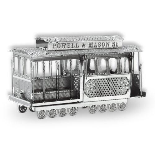 ★funbox玩具★METALLIC NANO PUZZLE 金屬微型模型拼圖 02 舊金山路面纜車 NO21902