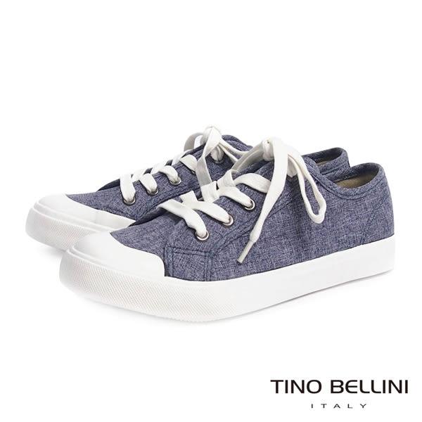 ★零碼出清★Tino Bellini牛仔不敗新輪廓綁帶休閒鞋(藍)_A63085  2016SS 網路限定價