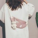 胸包 女可愛包包2021新款潮小清新夏天帆布包百搭森系斜挎腰包【快速出貨八折搶購】