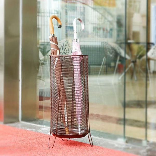 家用雨傘架酒店雨傘桶大廳折傘商店創意收納套房歐式門外圓形