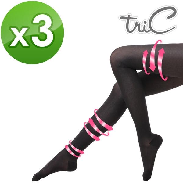 【醫碩科技】Tric 200Den*3 台灣製造 包趾壓力褲襪(黑/膚) 三雙