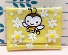 【震撼精品百貨】Sweetcoron Sanrio 小蜜蜂~三麗鷗小蜜蜂防水皮夾/短夾-黃#01036