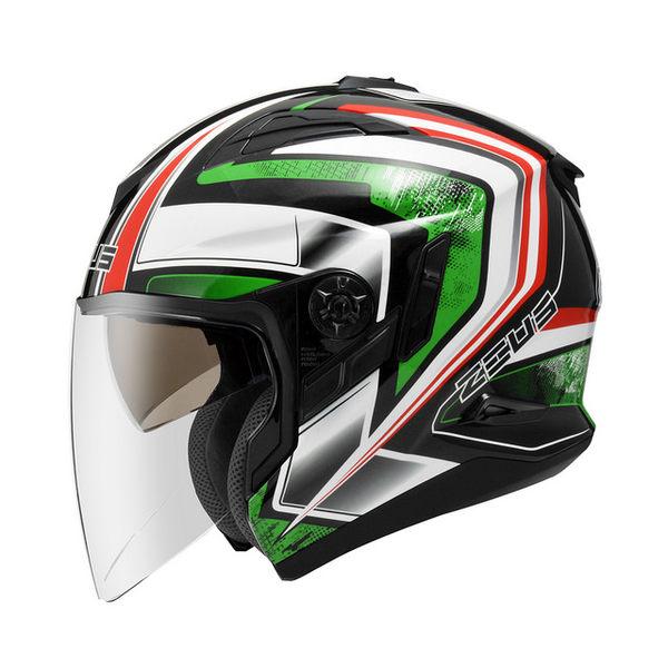 ZEUS瑞獅安全帽,ZS-613B,無帽沿版,AJ6/黑綠