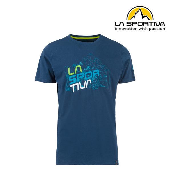 【義大利 LA SPORTIVA】Cubic T-Shirt 透氣短袖上衣 男款 藍色 #N12618618