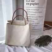 純色帆布袋女環保袋手提帆布袋大購物袋