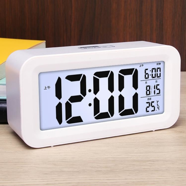 鬧鐘2021新款學生專用兒童鬧鈴靜音數字桌面電子時鐘鐘表智慧夜光 1995生活雜貨