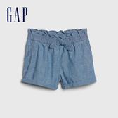 Gap女幼荷葉邊裝飾牛仔短褲539048-牛仔色