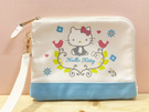 【震撼精品百貨】Hello Kitty 凱蒂貓~Hello Kitty日本SANRIO三麗鷗KITTY化妝包/筆袋-北歐*00516