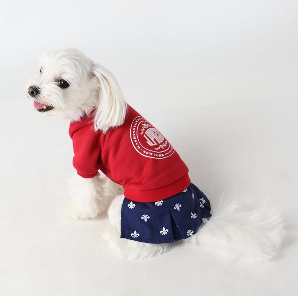 【PET PARADISE 寵物精品】JPRESS 假二件拼色洋裝 (3S) 寵物用品 寵物衣服《SALE》
