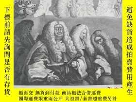 二手書博民逛書店十九世紀罕見威廉·荷加斯 版畫《THE BENCH》Y14882