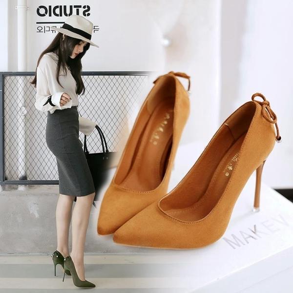 秋季水鑽細跟高跟鞋子 蝴蝶結尖頭鞋《小師妹》sm165