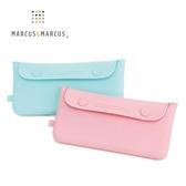 加拿大 Marcus & Marcus 輕巧矽膠餐具收納袋 粉色/綠色 6132 好娃娃