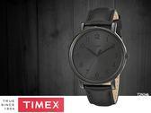 【時間道】TIMEX 天美時 經典簡約復刻皮帶腕錶– 黑面黑殼黑皮(T2N346/TXT2N346)免運費