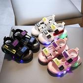 韓版兒童涼鞋男時尚男童女童包頭涼鞋軟底寶寶鞋發光鞋1-3歲半6潮 滿天星