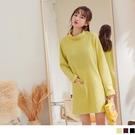 《AB14328》H-LINE高領針織長版上衣/連身裙 OrangeBear