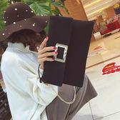 韓版時尚手拿包大容量百搭簡約休閒磨砂斜挎包女包【非凡上品】h561