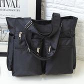8折免運 旅行包女行李袋手提大容量超大衣服簡約正韓短途小清新輕便潮媽咪