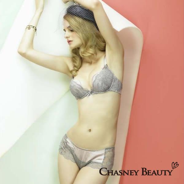 Chasney Beauty-Shell蕾絲S-M性感丁褲(低調紫)