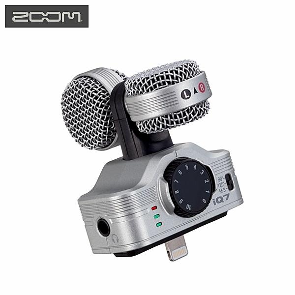 又敗家@日本Zoom銀色iQ7立體聲數位錄音麥克風錄音筆錄音器收音器Apple蘋果iPhone 5 6 7 + SE 7s 6s 5s 5c