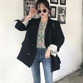 小西裝女外套中長款2018春秋新款韓版休閒百搭西服寬鬆簡約職業裝