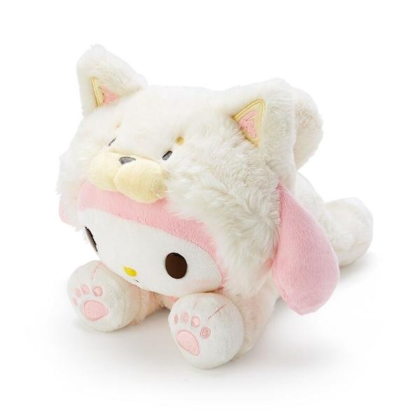 小禮堂 美樂蒂 沙包玩偶 柴犬玩偶 絨毛玩偶 中型玩偶 布偶 (米 調皮柴犬) 4550337-57407
