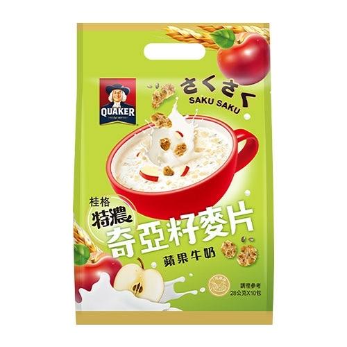 桂格奇亞籽麥片蘋果牛奶29G x10【愛買】