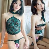 性感睡衣-蕾絲孔雀肚兜性感睡衣【父親節禮物】
