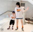親子裝 左西男童親子裝兒童母子款夏裝短袖T恤中大童夏季2020新款洋氣潮