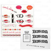 【VT薇拉寶盒】 CHANEL 香奈兒 摩登COCO身體轉印貼紙+Dior 迪奧 癮誘超模限量紋身貼紙