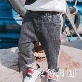 中大尺碼男童褲子1-3歲潮春秋寶寶牛仔長褲sd2602【衣好月圓】