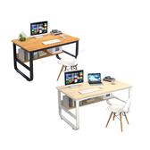 Incare北歐工業風鋼木多用電腦收納工作桌-100公分楓櫻木