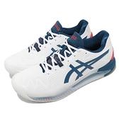 Asics 網球鞋 Gel-Resolution 8 2E 寬楦頭 男鞋 白 藍 紅 【ACS】 1041A113103
