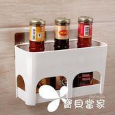 雙慶衛生間吸盤置物架浴室塑料收納架廚房置物瀝水架免打孔收納架