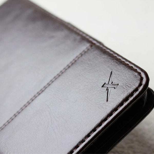 手機 皮套 - iPhone 8 plus / 7 plus - 防電磁波 - 精緻皮質 - 巧克力黑【Moxie 摩新科技】