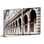 24mama掛畫-二聯式 歐美式建築無框畫 30x40cm