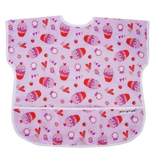 【任二入95折】Baby City娃娃城 - 防水短袖圍兜(1-3A) 紅色杯子蛋糕