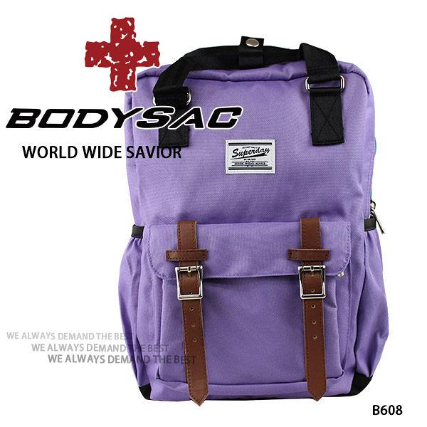 淺紫色-機能小後背包 (內有筆電夾層) AMINAH~【BODYSAC B608】