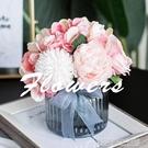 北歐小清新仿真花客廳擺設辦公室裝飾餐桌插花絹花藝擺件假花ins 【優樂美】