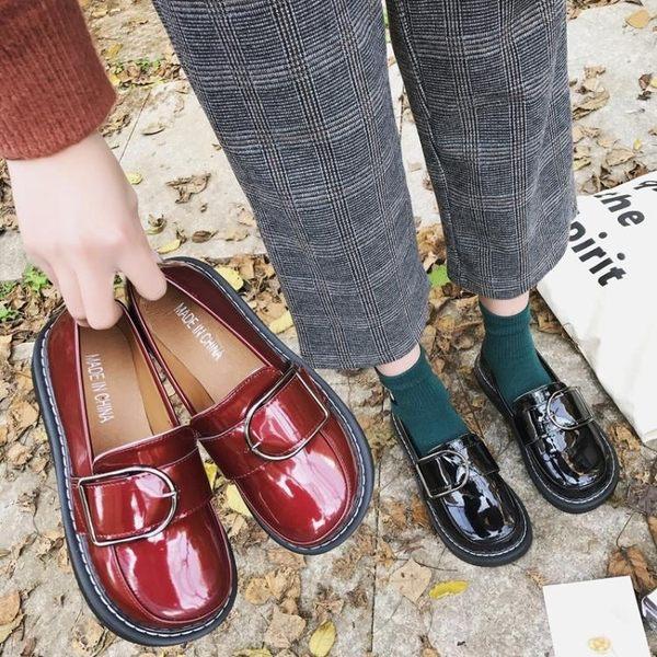 娃娃鞋大頭鞋女韓版學生原宿風ulzzang小皮鞋日繫軟妹方扣娃娃單鞋百搭 【時尚新品】