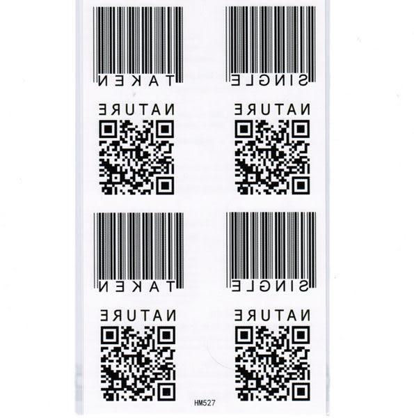 薇嘉雅   條碼 紋身貼紙 HM527