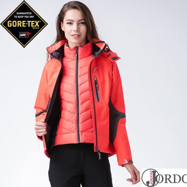 【JORDON 橋登 禦寒全餐組】超跑GORE-TEX3層布+撥水羽絨二合一外套