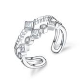 925純銀戒指 鑲鑽-有型高檔生日情人節禮物女配件73an83【巴黎精品】