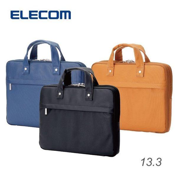 【加也】ELECOM BM-CB01系列 英倫風格 13.3吋 超輕量雙層手提電腦包